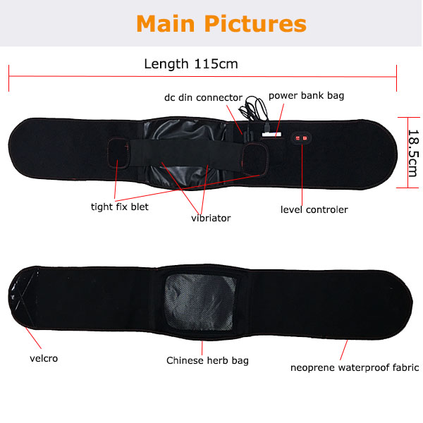 Health Vibration Slimming Heated Massager Wasit Belt for Losing Weight/Fitness Slimming Belt