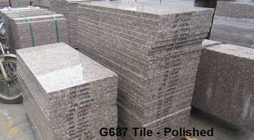 G687 polished cut to size stone granite caldding tiles