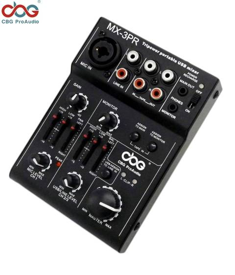 MX-3PR 3 Channel USB Mixer with Tripower