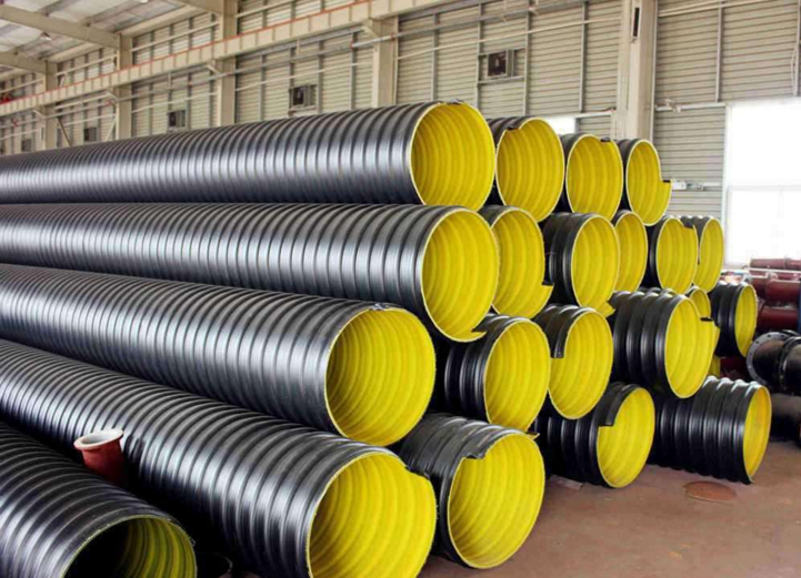 Steel belt reinforced polyethylene Corrugated spiral pipe