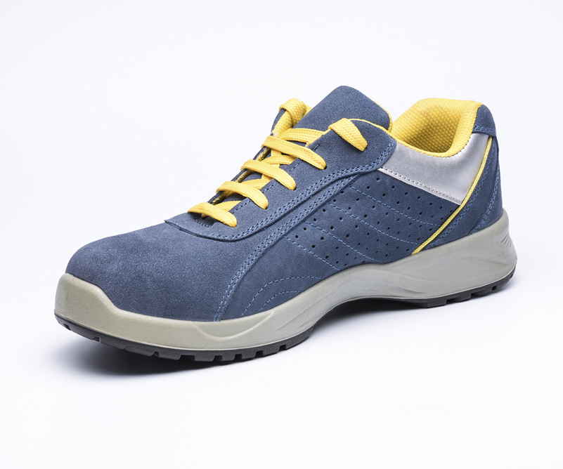 safety work shoes suede leatehr pu outsole