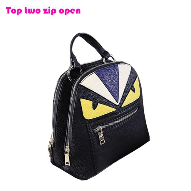 Fashion lady backpack handle