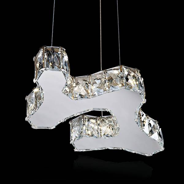 Contemporary LED crystal pendant light chandelier light