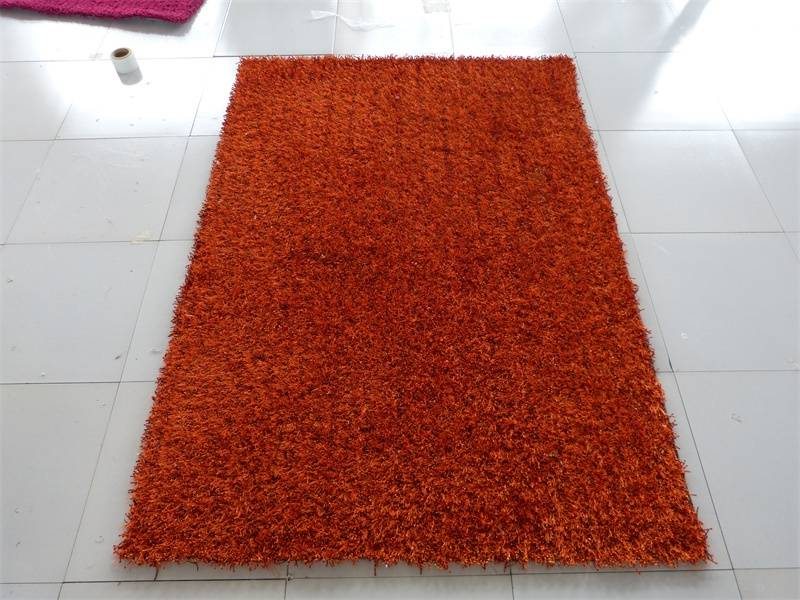Chinese knot plain shaggy anti-slip decoration carpet and rug