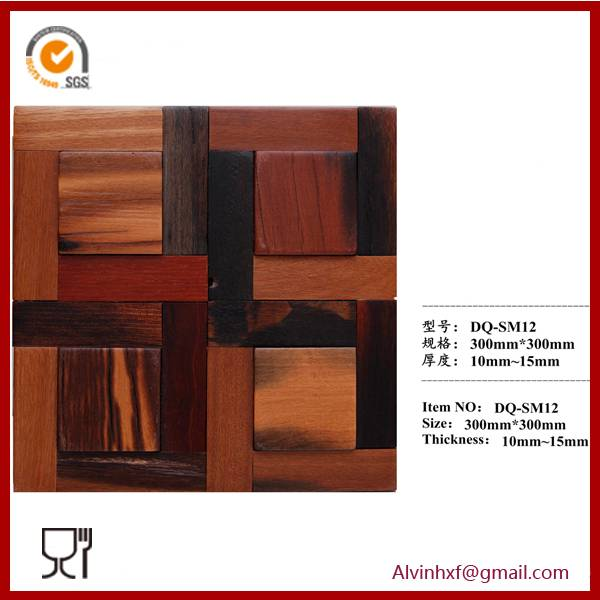 Wooden Mosaic for Home Wall Decoration