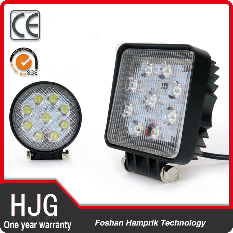 27w led work light motorcycle led fog lamp 12v-24v led folk light