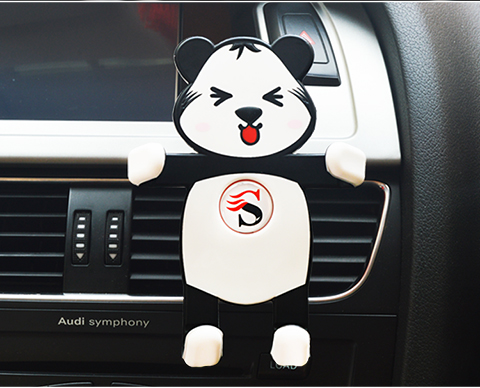 Cartoon Silicone Car Air Vent Phone Mount Holder