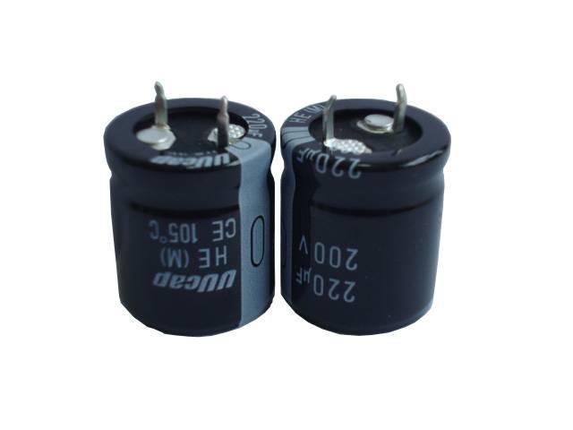 UUcap 200V 220UF Snap-in Aluminum Electrolytic Capacitor 105C 3000hrs