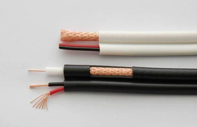 siamese cable RG59 with 2*0.75 square millimeter power cable