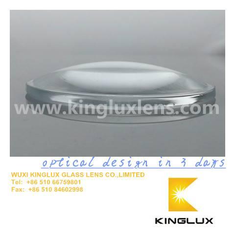 63mm  car led head lamp glass lens