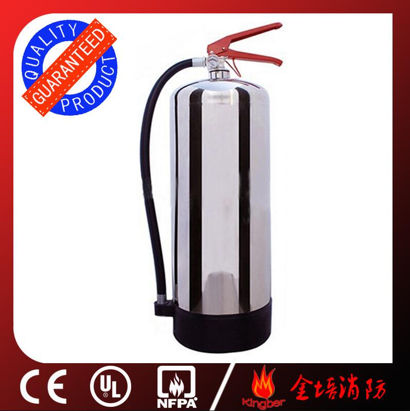 6KG Portable Stainless Steel Dry Powder Fire Extinguisher for Hospital Using with ISO Approval