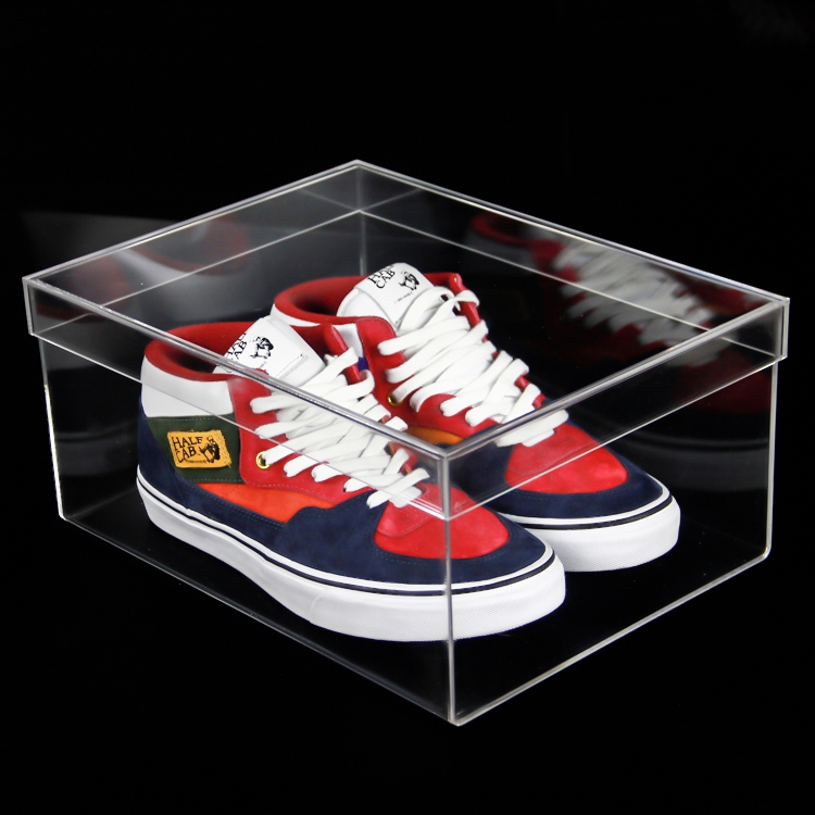 acrylic shoes display case box