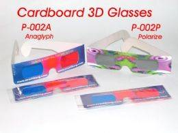 3D anaglyph cardboard glasses, 3D polarized glasses