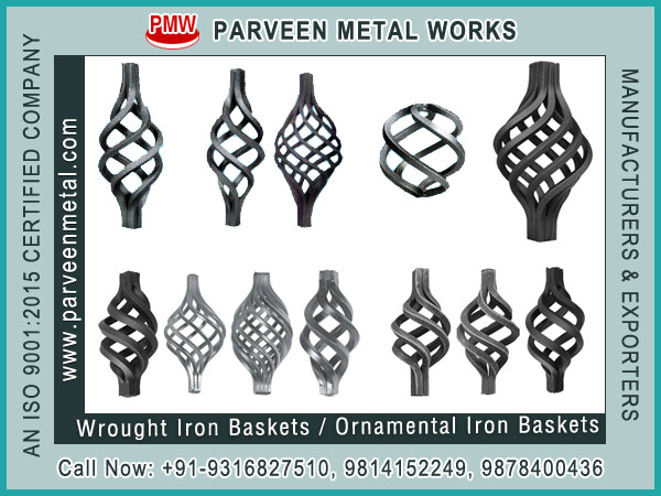 Ornamental Baskets for gate panels