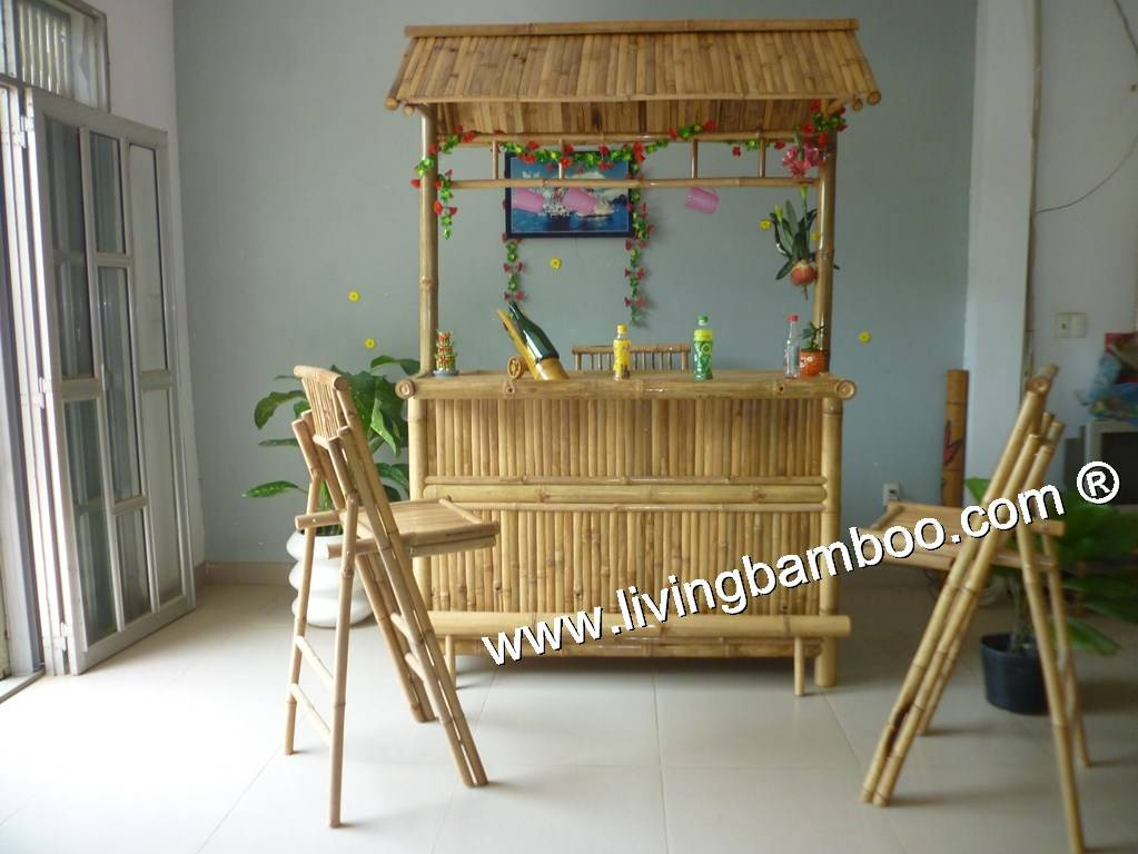 Bamboo Bar For Outdoor Furniture, Garden