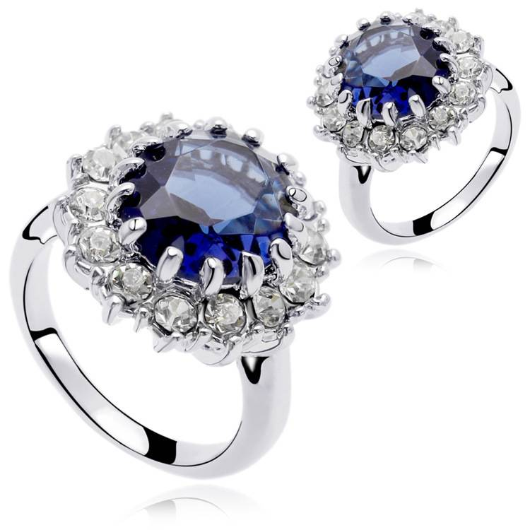 Fashion Gemstone Crystal Wedding Rings For Women