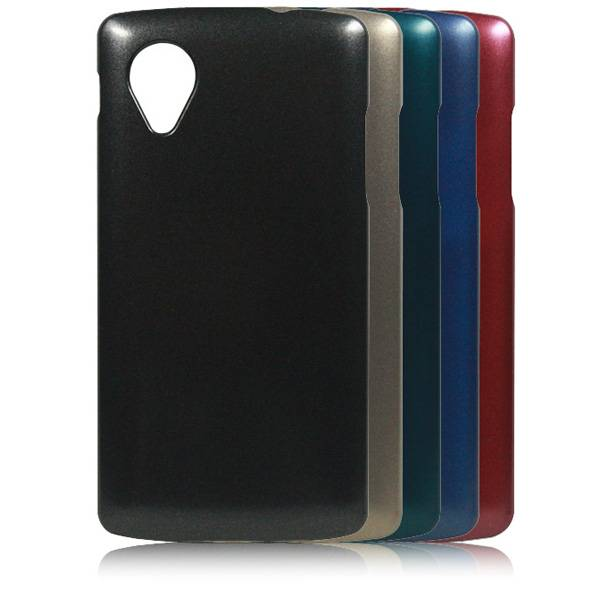 Cheap Price High Quality Metallic Paint Coated Mobile Phone Case for lg google nexus 5 case