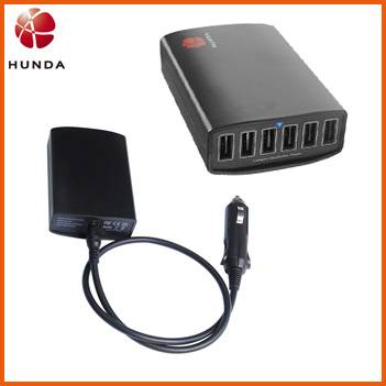 40w Universal DC Power Supply 5 in 1 Car Charger Hub