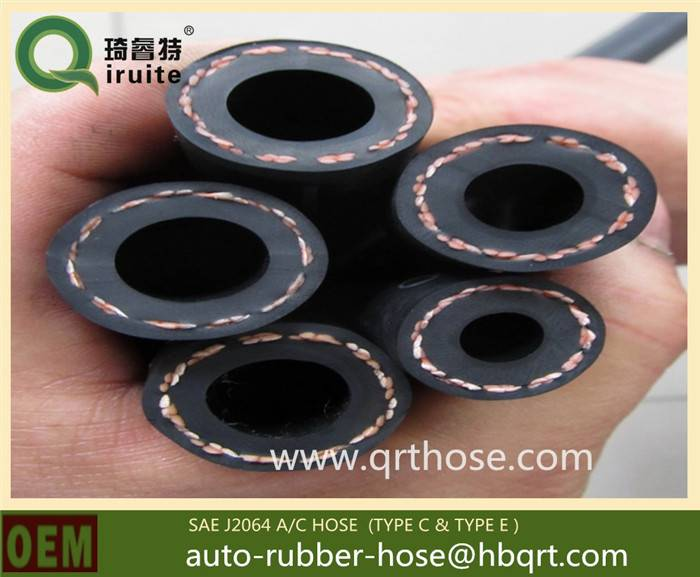 nylon polyester reinforced rubber refrigeration hoses for automotive car