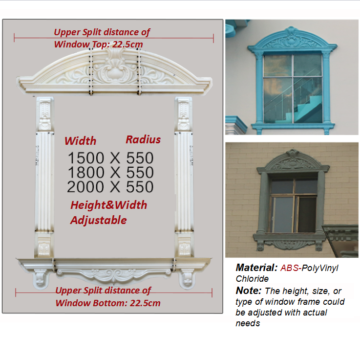 Recommended-Exterior window frame moulding, windowsill moulds