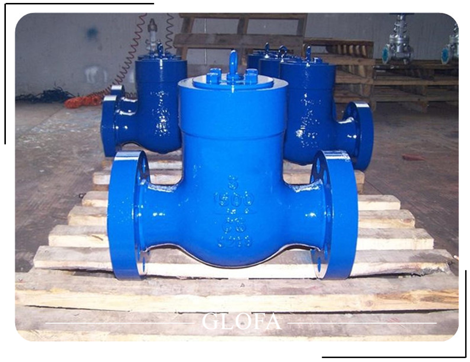 API 6D CL1500 A216 WCB PRESSURE SEALED COVER SWING CHECK VALVE