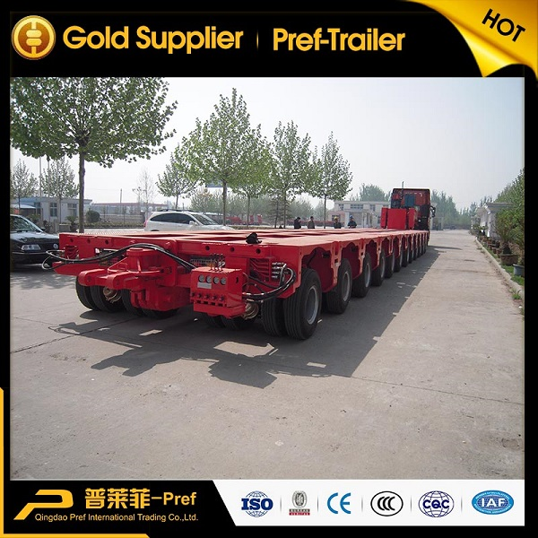 150 tons heavy duty 12 axle lines modular trailer