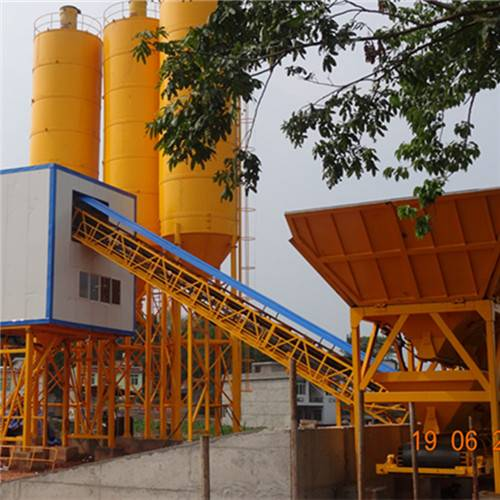 China belt conveyor concrete batching plant hot