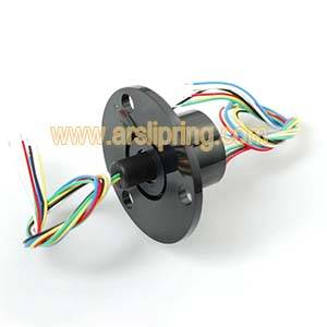Slip Ring with Flange - 22mm Diameter, 6 Wires, 240V @2A