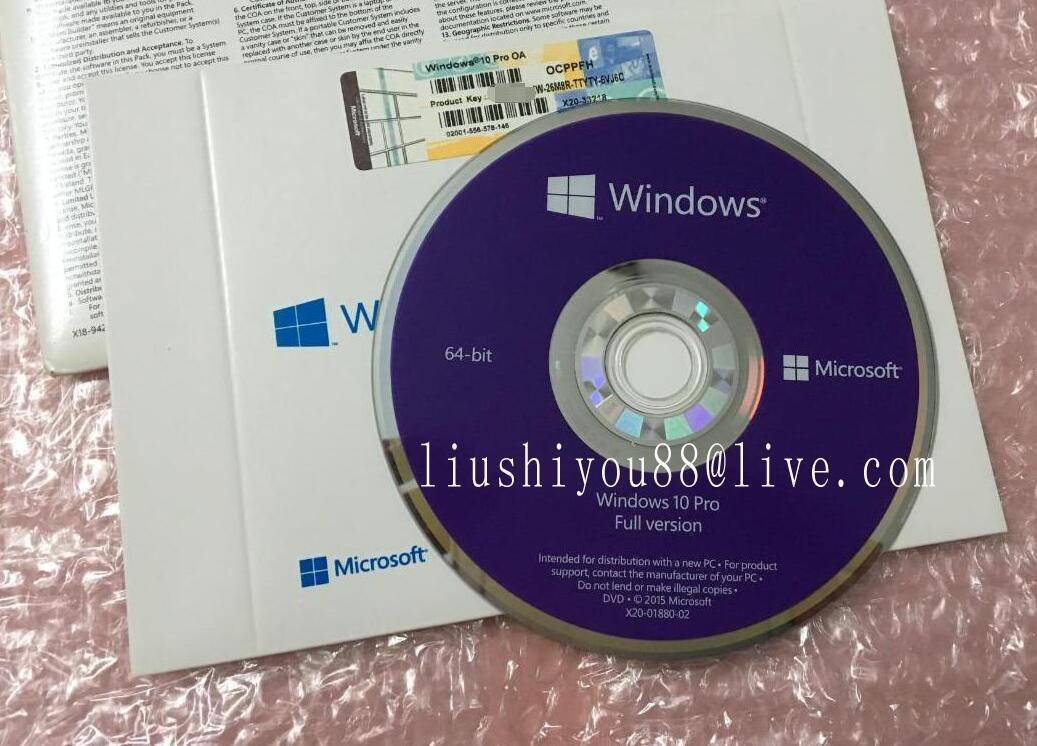 Software Windows 10 PRO COA OEM Win10 Packaging DVD Label 100% Online Sticker