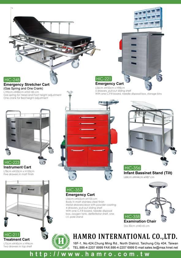 Medical Furniture, Hospital Equipment, Cart, Trolley