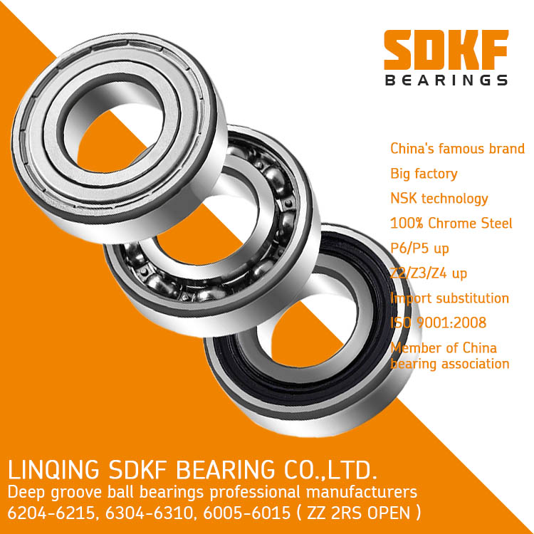 SDKF 6204 high speed motor bearings deep groove ball bearing