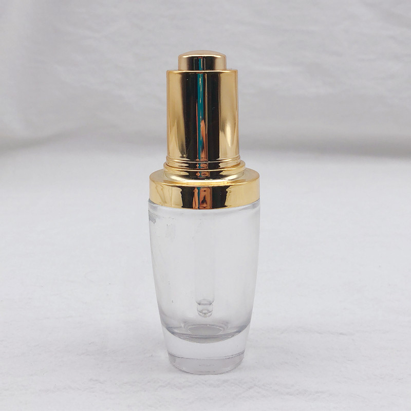 High Quality 30ml Glass Press Dropper Bottle For Essence
