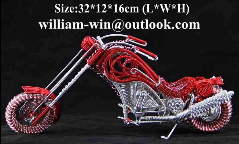 handmade motorbike model