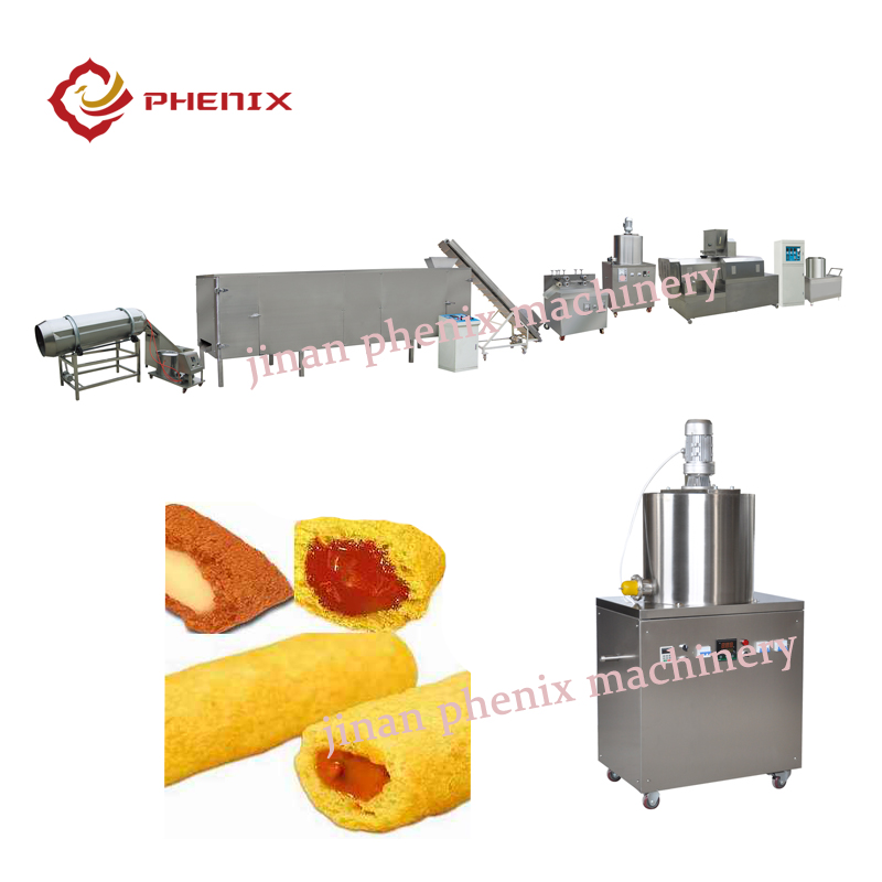 pillow core filling snacks food extruder making machines