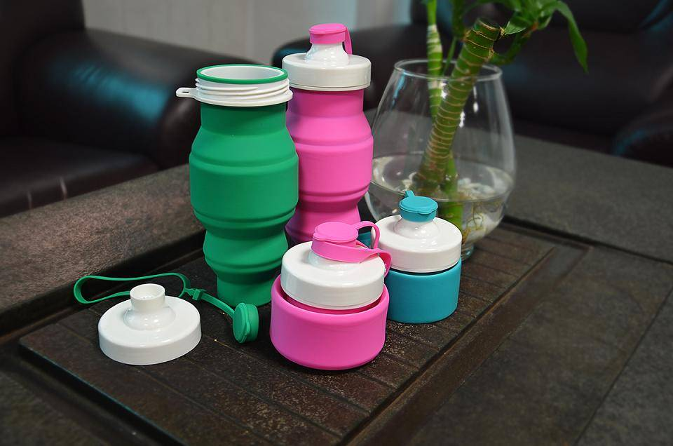 silicone portable drink bottle