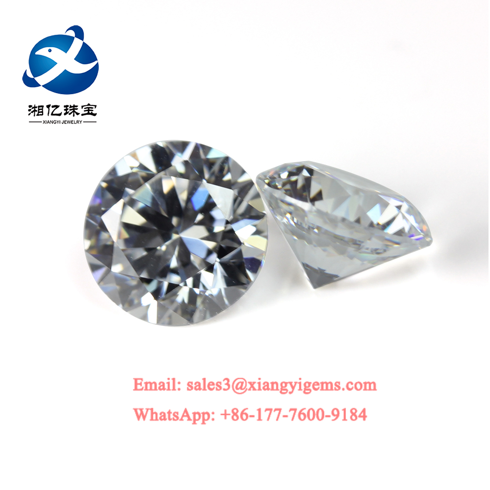 Wuzhou Factory Price Round Brilliant Cut White Cubic Zirconia