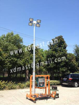 Built-in cable pneumatic telescopic mast lamp pole