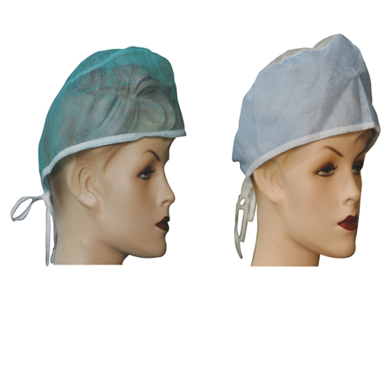 18'' 21'' 24'' medical hair cap bouffant round cap for hospital