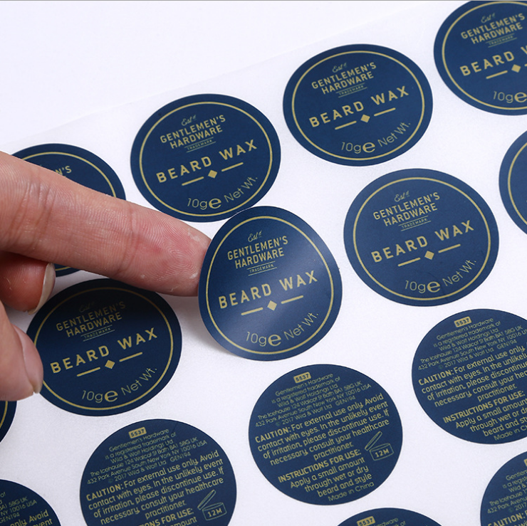 self adhesive label with silkscreen printing or offset printing stickers