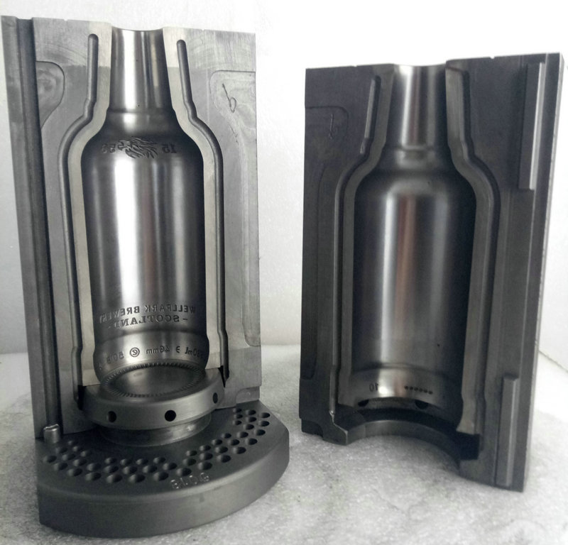 Glass beer bottle blow mould