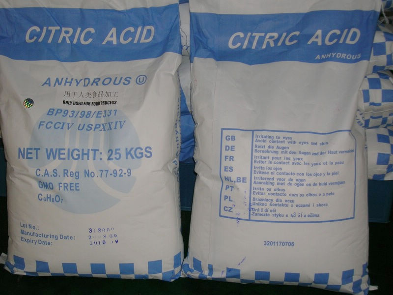 Citric Acid Monohydrate, Citric Acid Anhydrous, Carmoisine, Bleaching Powder,