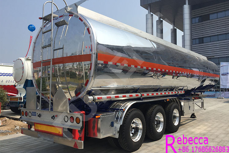 3 axle aluminum tanker semi trailer 45,000 liters 6 compartments fuel tanker trailer