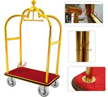 Used hotel metal trolley luggage cart bellman's trolley