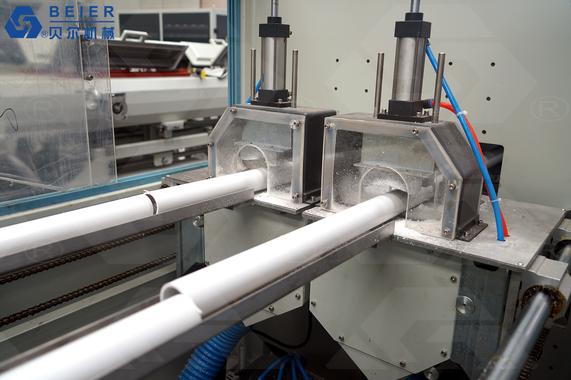PVC (50-110mm) Double Exit Pipe Line extrusion line