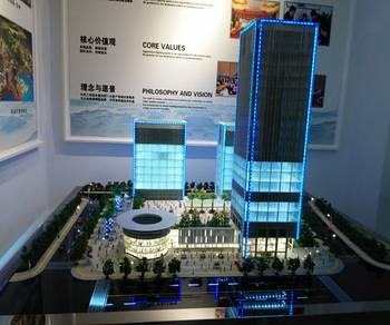 3d building model with perfect led light , architecture scale model