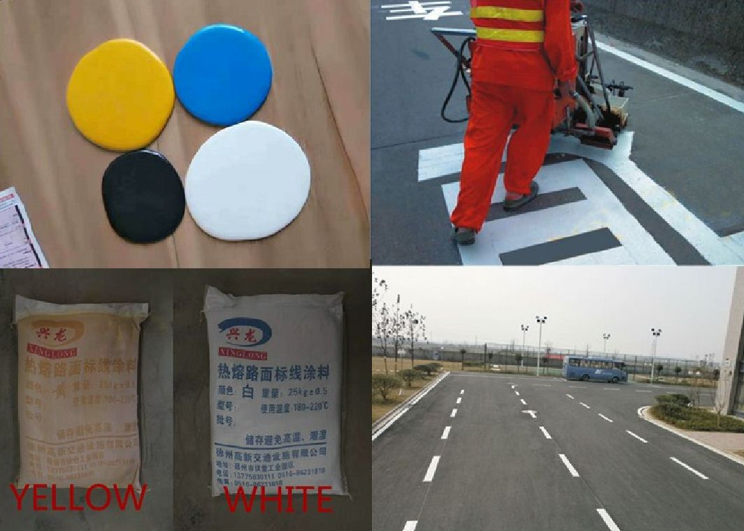 Reflective Antiwear Thermoplastic Road Marking Paint