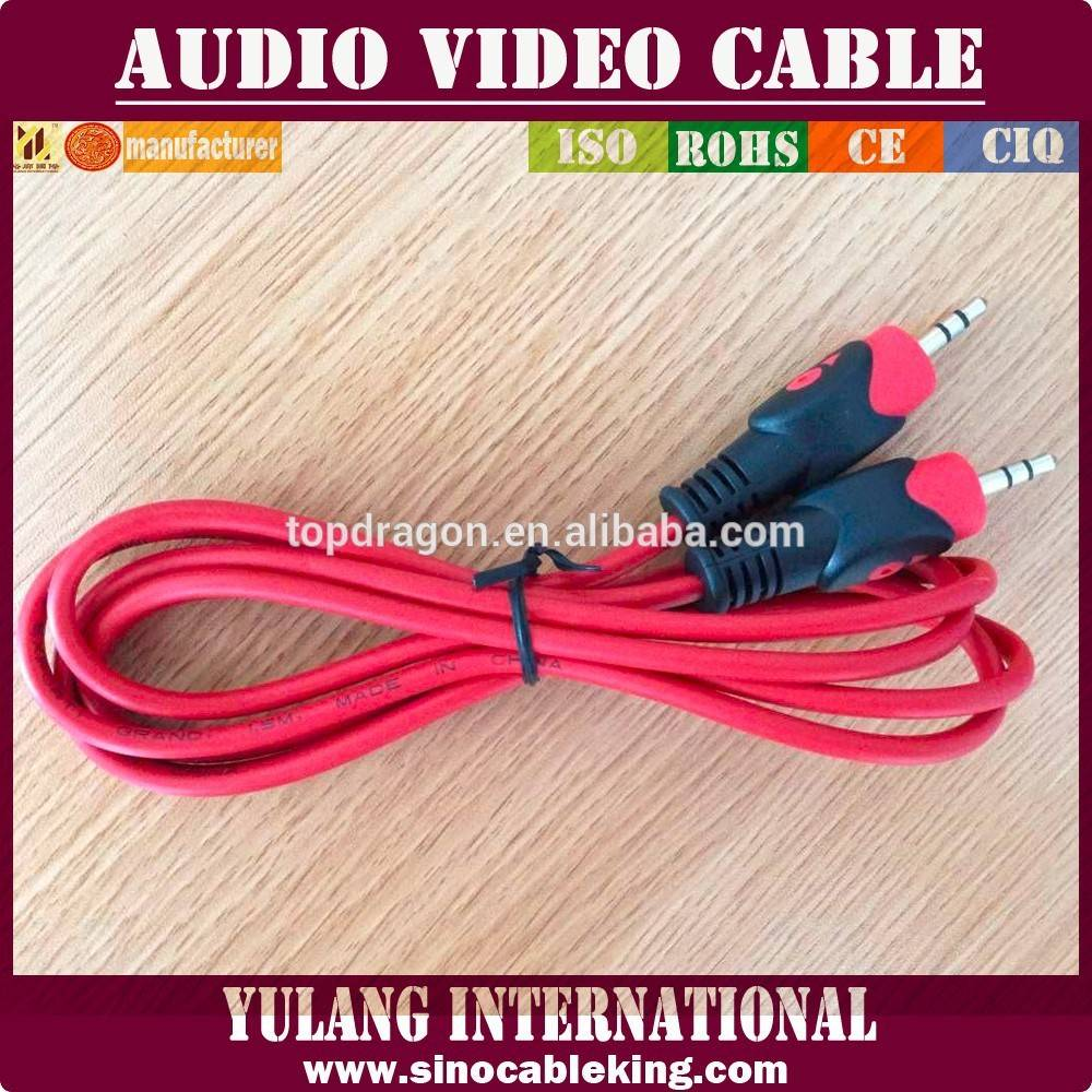 3.5 mm stereo to 3.5 mm stereo fish-eye cable for Egypt market