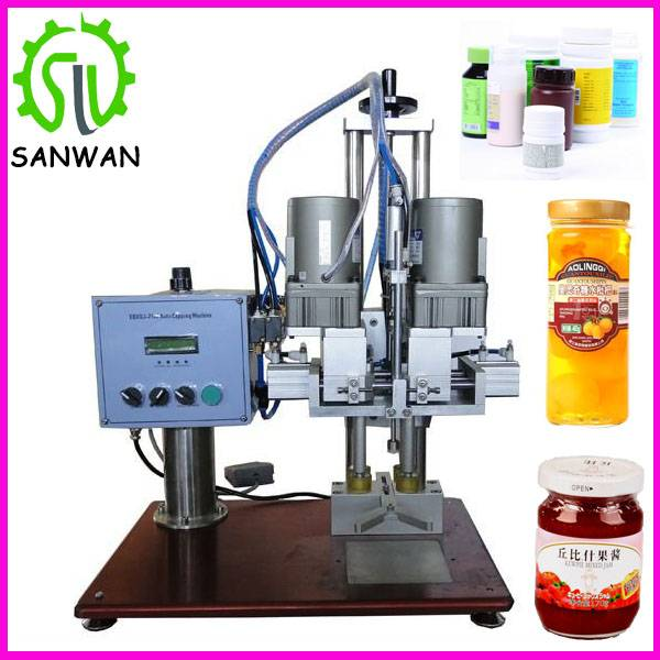 tabletop cap screw machine for cans semi-automatic capping machine