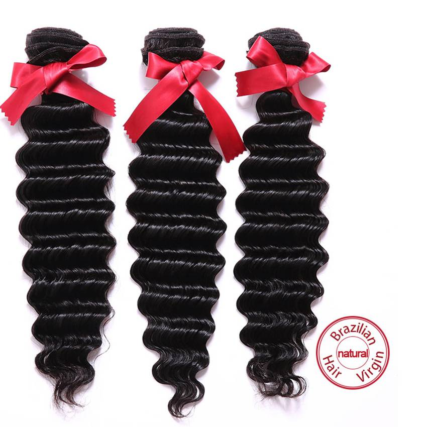 Evet Hair Weave Bundlesdeep Wave Brazilian Virgin Hair Weaves