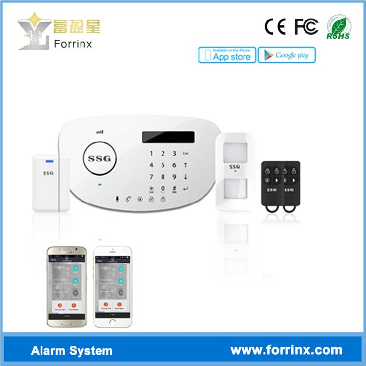 PSTN GSM Alarm System with Touch Keypad LCD Screen